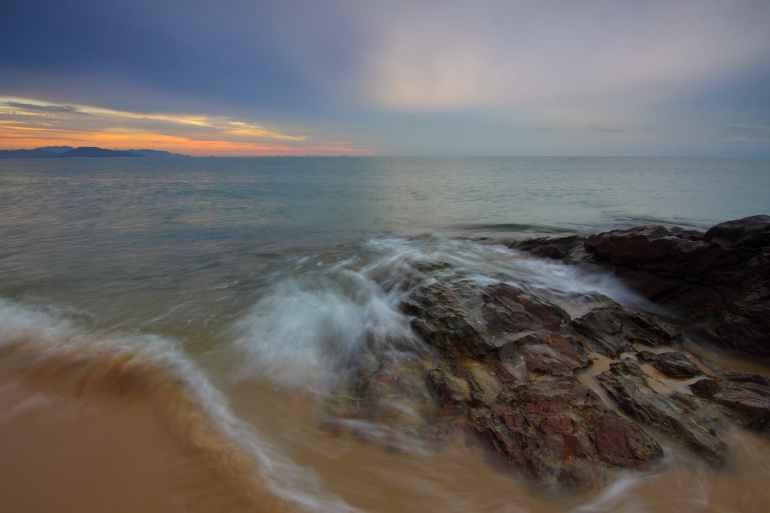beach dawn dusk evening